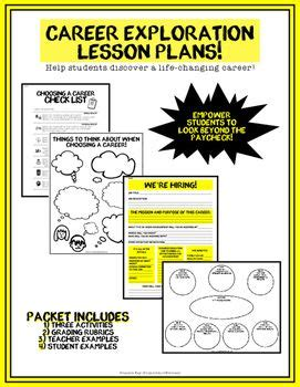 home and careers lesson plans career exploration health or advisory lesson plans