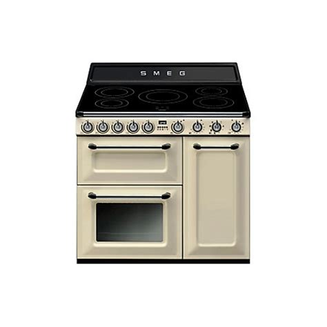 electric induction freestanding cookers smeg freestanding electric range cooker with induction hob tr93ip departments diy at b q