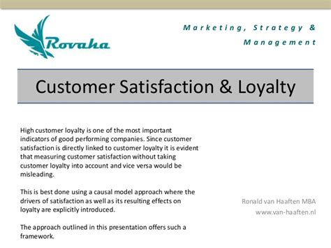 Advantages Of Integrated Mba by Customer Satisfaction And Loyalty