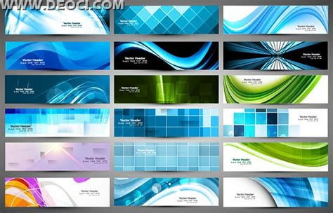18 Technology Exquisite Blue Banner Background Design Template Eps File To Download Deoci Com Technology Banner Template