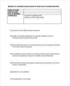 Cancellation Policy Letter Exle Cancellation Policy Template 8 Free Documents In Pdf