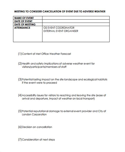 cancellation policy template 8 free documents download