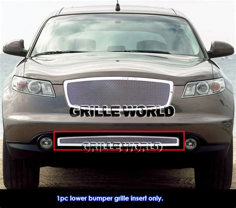 for 06 08 infiniti fx series bumper stainless mesh grille ebay