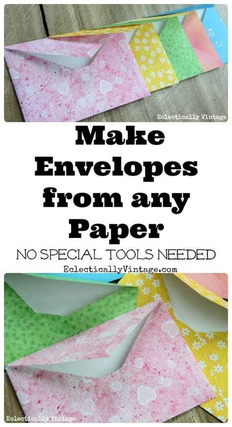 make diy envelopes from any paper