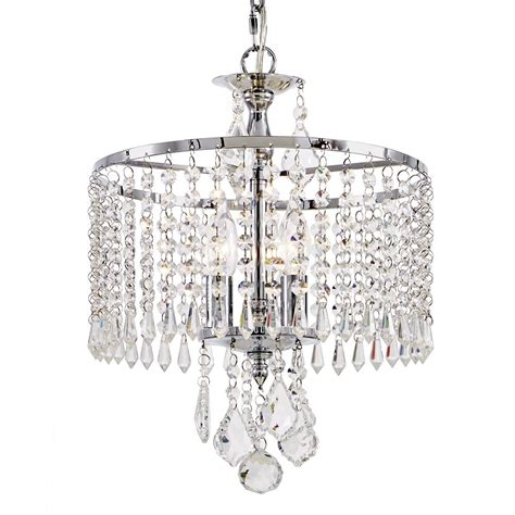 Chrome Mini Chandelier Fifth And Lighting 3 Light Polished Chrome Mini Chandelier With K9 Dangles Hd 1144