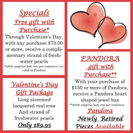 valentines newsletter s day specials pandora special gift package