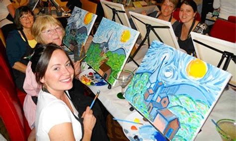 paint nite toledo wine and canvas toledo in maumee oh groupon