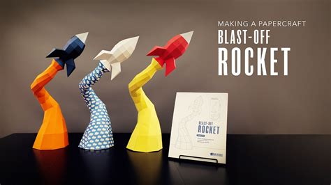 How To Make A 3d Rocket Out Of Paper - papercraft rocket a low poly blast rocket