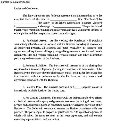 Non Binding Letter Of Intent Lease Sle Binding Letter Of Intent Sle Templates Sle Templates