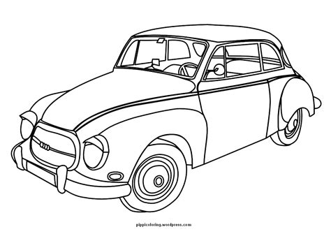 coloring page of old car cars pippi s coloring pages