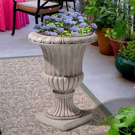 White Outdoor Planters Christopher Home Antique White Italian Urn Planter