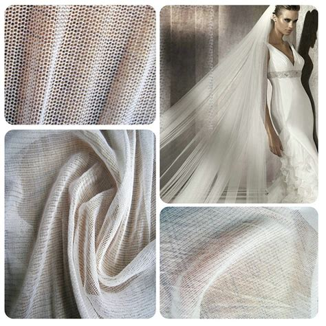150cm Width100 Nature White Silk Tulle Fabric Use Wedding 100 Clear White Wedding