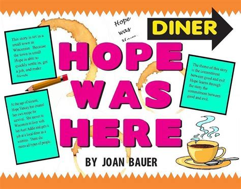 book themes about hope make a hope was here poster book report project poster
