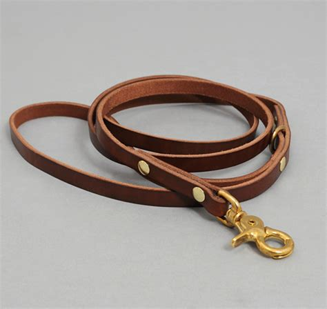 leather leash leather leash brown hickoree s