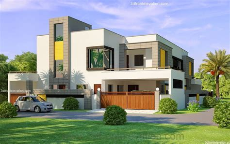 home elevation design photo gallery 3d front elevation com 1 kanal corner plot 2 house