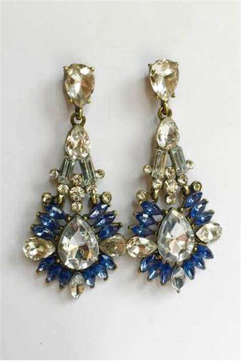 blue chandelier earrings classic remix blue chandelier earrings from chicago