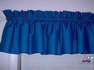 Blue Valance Curtains Solid Royal Blue Valance Curtain Window By Babycribskirts On Etsy