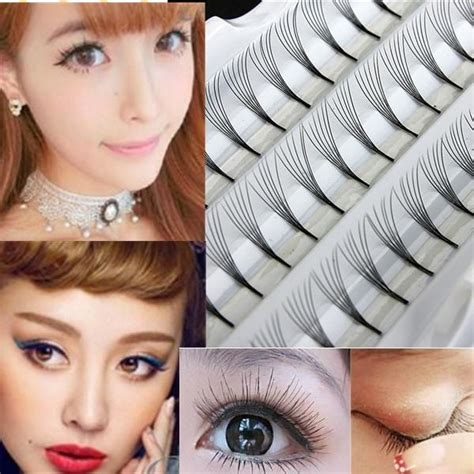 women in 60s with eyelash extensions 60 individual black false eyelash women makeup cluster eye