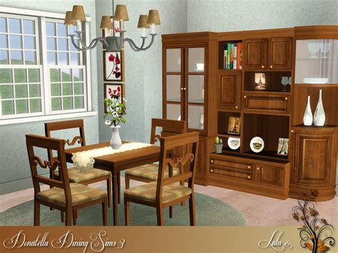 Dining Room Set Sims 3 Lulu265 S Donatella Dining For Sims 3