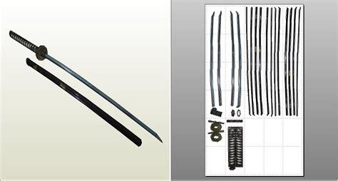 papercraft weapons templates katana papercraft by sibor270898 on deviantart