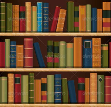 book shelf repeat pattern graphicriver