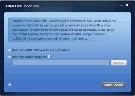 install windows 10 pxe pxe boot windows 10 with aomei pxe boot software