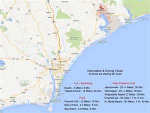 topsail island carolina map island maps points of interest topsail island get away