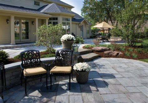 Leveling A Patio by Multi Level Patio By Unilock With Rivenstone Paver Photos