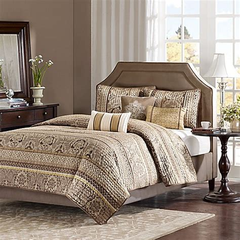 brown coverlet king buy madison park bellagio king coverlet set in brown from