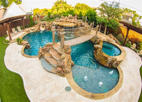 Pirates Themed Backyard   Tropical   Pool   Dallas   by