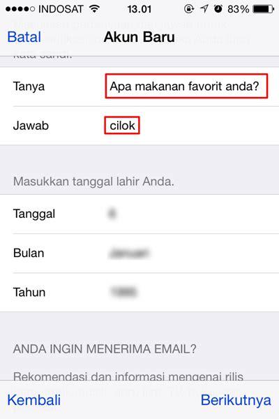 cara membuat apple id none cara mudah membuat apple id di iphone tanpa mengisi metode