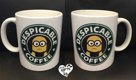 Handcrafted Coffee Starbucks - despicable coffee starbucks inspired mug custom gifts by kb