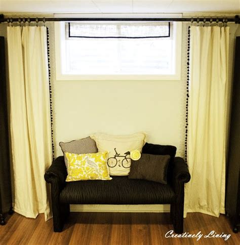 17 best ideas about basement window curtains on