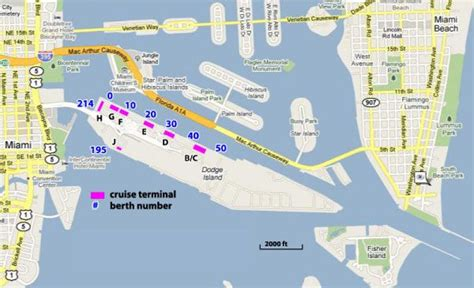 cruises miami aruba miami cruise port map and local activities cruising