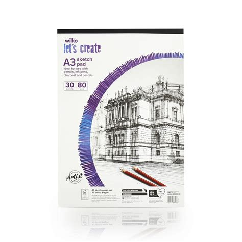 Wilko Let S Create Sketch Pad A3 80gsm 30 Sheets At Wilko