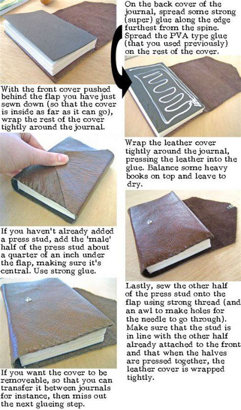 Handmade Journal Tutorial - how to make a leather journal book binding tutorial
