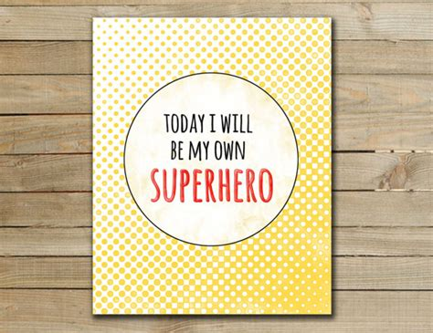 printable superhero quotes superhero art print nursery inspirational by 2chickstudio