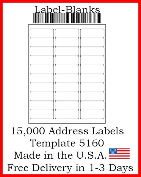 template for address labels 1 x 2 5 8 laser ink jet labels 500 sheets 1 quot x 2 5 8 quot avery