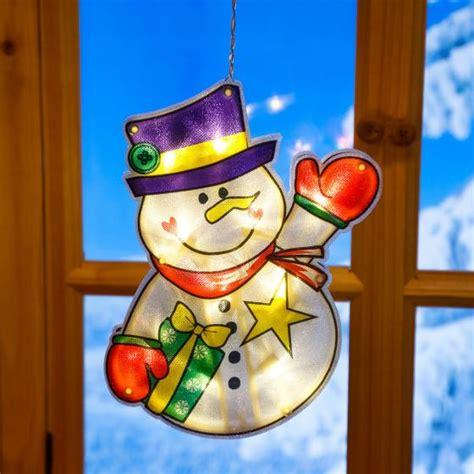fensterdeko weihnachten led led fensterdeko schneemann matz kaufen bei g 228 rtner