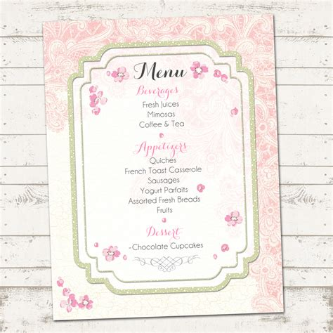 vintage inspired wedding shower invitations bridal shower shabby chic pack vintage inspired pinks custom printable on