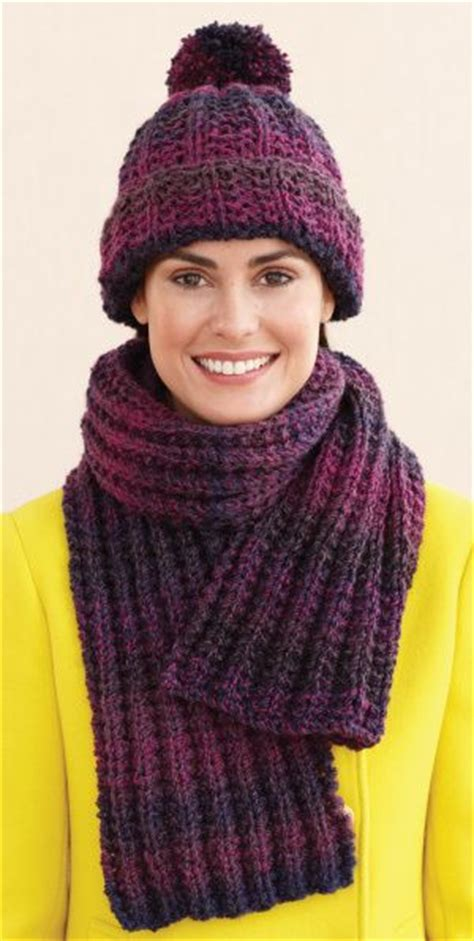ribbed knitted scarf pattern free rustic ribbed hat and scarf pattern knit