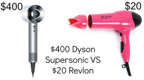 Hair Dryer Vs 400 dyson supersonic vs 20 revlon hair dryer