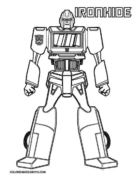 Tenacious Transformers Coloring Page Yescoloring Free Transformer Color Pages