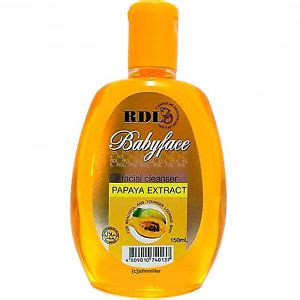 Rdl Cleanser Babyface Papaya 150ml rdl babyface skin whitening lightening papaya cleanser large size 150ml ebay