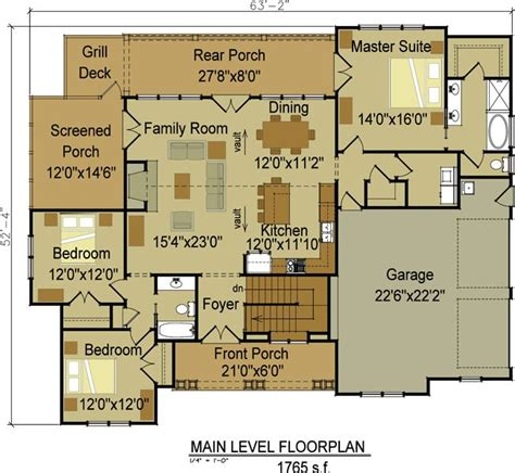 craftsman open floor plans one story craftsman home designs one or two story