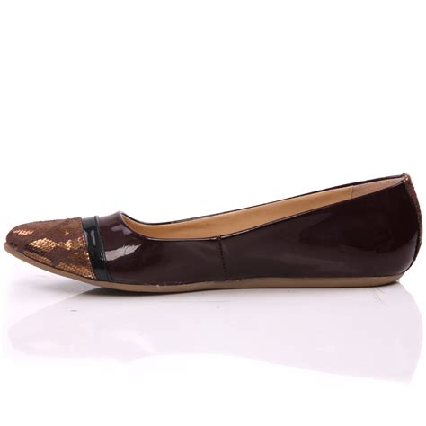 brown flat shoes unze taru womens flat ballerina pumps shoes size 3 8uk