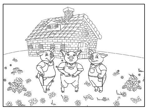coloring pages the three little pigs 11
