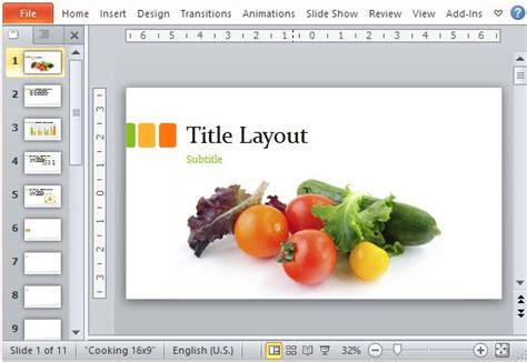 templates powerpoint nutrition food presentation template for powerpoint