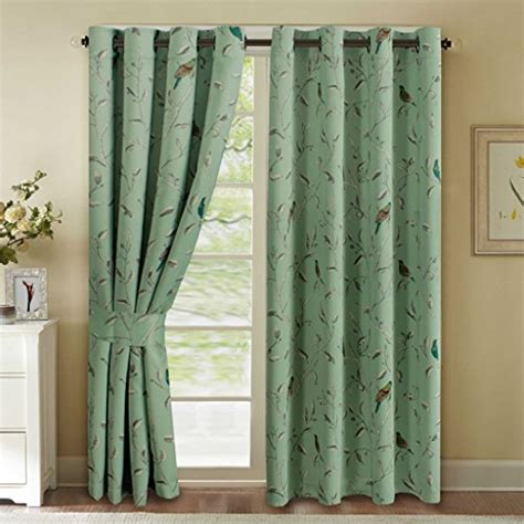 drapes login h versailtex turquoise birds country style pattern thermal