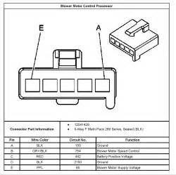 2003 chevy silverado blower motor resistor wiring diagram